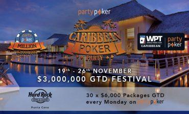 Partypoker разыгрывает 30 пакетов на Caribbean Poker Party