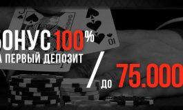 ПокерДом: бонус на первый депозит