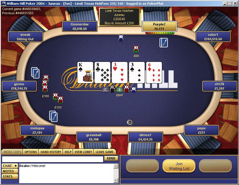 william hill официальный сайт покер